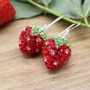 04 Ohrhänger Erdbeer rund 10mm EB0204-00435-10 7,25,-